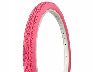 "Duro Components Pink Tires  "" You Get 2 Per Purchase "" Duro 26""x2.125"" Beach Cruiser Color Bicycle Tires"