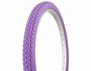 "Duro Components Purple Tires "" You Get 2 Per Purchase "" Duro 26""x2.125"" Beach Cruiser Color Bicycle Tires"