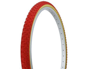 "Duro Components Red/gum / 26 x 1.75"" Duro 26"" x 1.75"" gum wall tires"