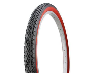 "Duro Components Red Wall Tires "" You Get 2 Per Purchase "" Duro 26""x2.125"" Beach Cruiser Color Bicycle Tires"