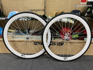 Origin8 Wheels White / 700c / 16T 42mm Origin8 Fixed Gear Wheelset 700c W / Tube and Tire Flip-flop hub