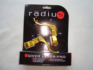 Radius Components Gold Radius Power Lever-Pro  in line brake levers