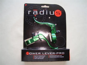 Radius Components Green Radius Power Lever-Pro  in line brake levers