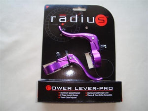 Radius Components Purple Radius Power Lever-Pro  in line brake levers