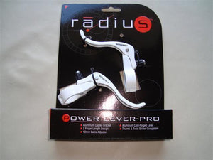 Radius Components White Radius Power Lever-Pro  in line brake levers