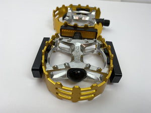 SE Bikes Components 9/16 / Gold Wellgo Bear Trap Pedals 1/2""