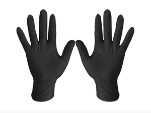 SGV Bicycles MKC Gear Black / Small 50 Face Mask with Elastic Ear Loop Plus 50 Nitrile Disposable Non-Sterile Gloves