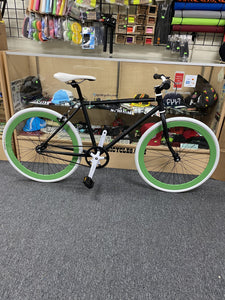 Sgvbicycles Bikes 45cm / Black / White / Green Sgvbicycles Custom Fixed-Gear / Single-Speed Bike