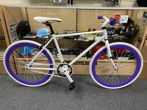 Sgvbicycles Bikes 45cm / White / Purple Sgvbicycles Custom Fixed-Gear / Single-Speed Bike