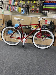 Sgvbicycles Bikes 48cm / Red / White Sgvbicycles Custom Fixed-Gear / Single-Speed Red Bike