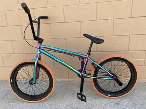 "Sgvbicycles Bikes Neo Chrome / Gum / 20"" Sgvbicycles Hawkeye Pro BMX Bike Oil Slick Gum"
