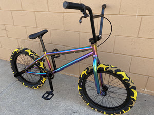 "Sgvbicycles Bikes Neo Chrome / Yellow / 20"" Sgvbicycles Hawkeye Pro BMX Bike Oil Slick Yellow"