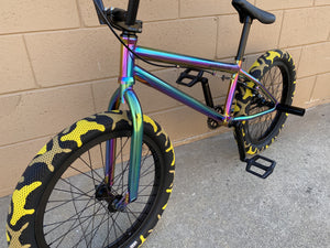 "Sgvbicycles Bikes Neo Chrome / Yellow Camo / 20"" Sgvbicycles Hawkeye Pro BMX Bike Oil Slick Yellow Camo"