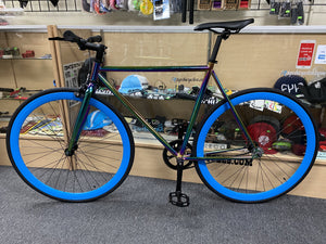Sgvbicycles Bikes Sgvbicycles Aura Single Speed Fixie Bike Neo Chrome Oil Slick