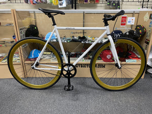 Sgvbicycles Bikes White Blue / 48cm Sgvbicycles Irez Fixie Single Speed Bike White Gold