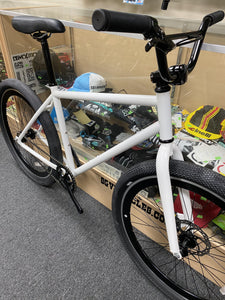"Sgvbicycles Bikes White Sgvbicycles Gunther 26"" BMX Bike FGFS Single speed Freewheel or Fixed Gear"