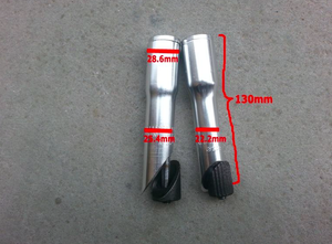 "Uno Components 1"" Threaded to 1"" 1/8 Threadless Quill Stem Adapter - Silver or Black 22.2"