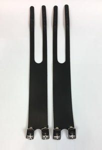 Uno Components Black Leather Foot Straps