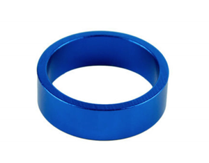 Uno Components Blue 1 1/8 inch Black Aluminum Threadless Headset Spacer Spacers 10mm