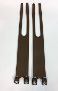 Uno Components Brown Leather Foot Straps