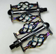 "Uno Components Cage Pedals 1/2"" Neo Chrome Lowrider, Beach Cruiser, Chopper Bike"