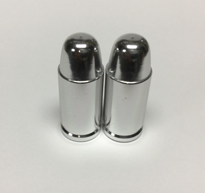 Uno Components Chrome Bullet Valve Caps Pair