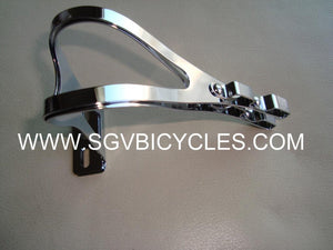 Chrome Double or Single Metal Toe Clips Large size