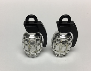 Uno Components Chrome Granade Valve Caps Pair