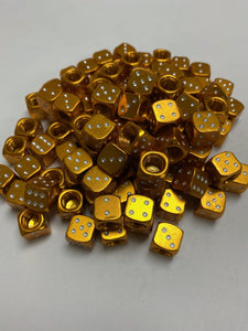 Uno Components Gold Anodized Sgvbicycles Dice Valve Caps