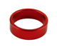 Uno Components Red 1 1/8 inch Black Aluminum Threadless Headset Spacer Spacers 10mm