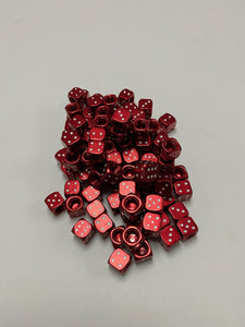 Uno Components Red Anodized Sgvbicycles Dice Valve Caps