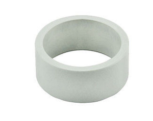Uno Components White 1 1/8 inch Black Aluminum Threadless Headset Spacer Spacers 10mm