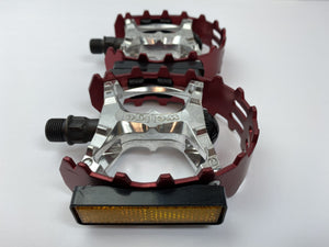 Wellgo Components 9/16 / Red Wellgo Bear Trap Pedals 1/2""