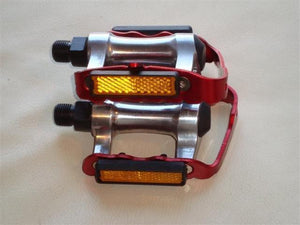 Wellgo Components Red Wellgo Alloy 9/16 Pedals
