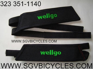 Wellgo Components Wellgo Fixie BMX Bike Bicycle Double Pedal Straps