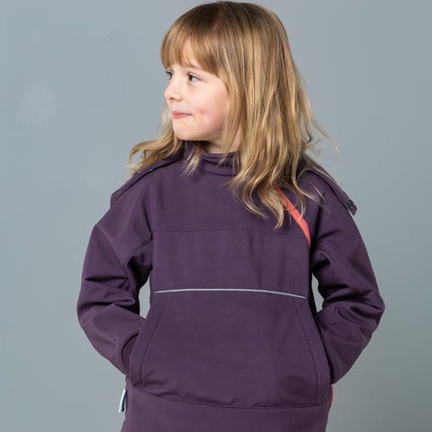 hooded top - plum