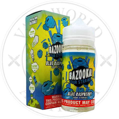 Blue Raspberry | Bazooka Sour Straws | Vape World Australia | E-Liquid