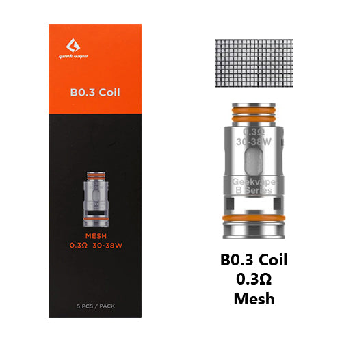 Geek Vape B Series Replacement Coils 0.3ohm | Vape World Australia | Vaping Hardware