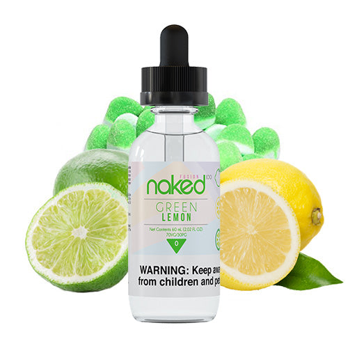 Green Lemon (Sour Sweet) 60ml | Naked 100 | Vape World Australia | E-Liquid