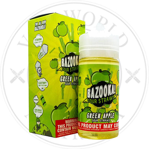 Green Apple | Bazooka Sour Straws | Vape World Australia | E-Liquid