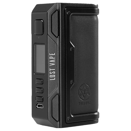 Lost Vape Thelema DNA 250C Mod Black Calf Leather | Vape World Australia | Vaping Hardware