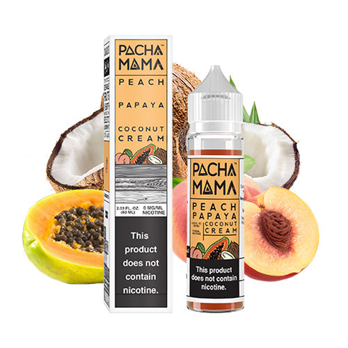 Peach Papaya Coconut Cream 60ml | Pacha Mama | Vape World Australia | E-Liquid