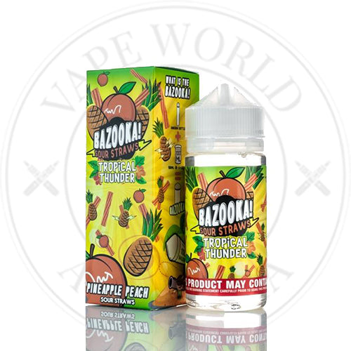 Pineapple Peach | Bazooka Sour Straws | Vape World Australia | E-Liquid