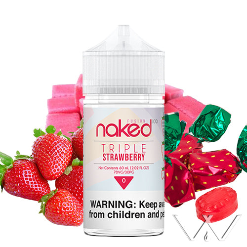 Triple Strawberry (Yummy Gum) | Naked 100 | Vape World Australia | E-Liquid
