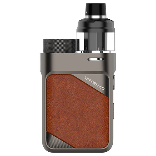Vaporesso Swag PX80 Kit Leather Brown | Vape World Australia | Vaping Hardware