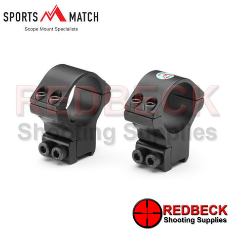 Sportsmatch (HTO36C) Mounts 30mm Two Piece High