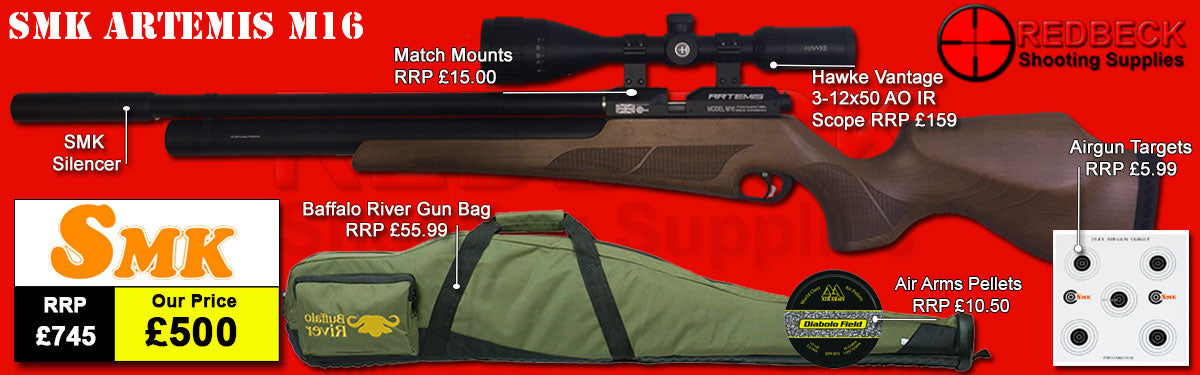ARTEMIS M16 air rifle Package Deal