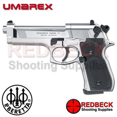 Beretta 92FS Polished Chrome C02 Air Pistol
