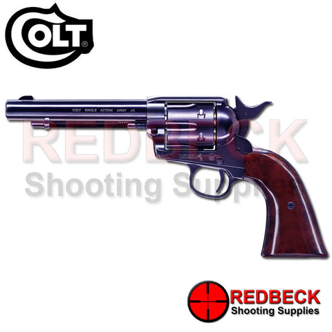 Colt .45 SAA Peacemaker Blued Pellet Firing Air Pistol 5.5""