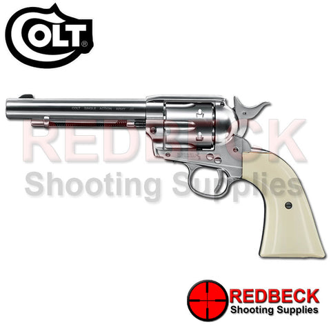 "Colt .45 Peacemaker Nickel 5.5"" Air Pistol"